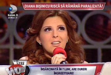 Diana Bisinicu, TINTUITA LA PAT din cauza sarcinii