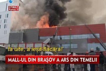 Au plecat la cumparaturi dar s-au trezit in IAD! Sute de persoane au fost evacuate dupa ce mall-ul din Brasov a ars din temelii VIDEO