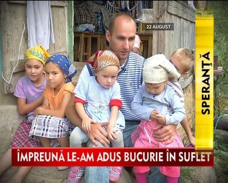 Drama tatalui ramas singur cu sapte copii a emotionat zeci de oameni! Kanald D impreuna cu telespectatorii au adus un zambet pe un chip chinuit de durere VIDEO