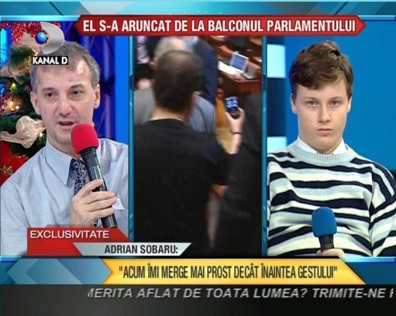 Adrian Sobaru, barbatul care s-a aruncat de la balconul Parlamentului, DEZVALUIRI SOCANTE VIDEO