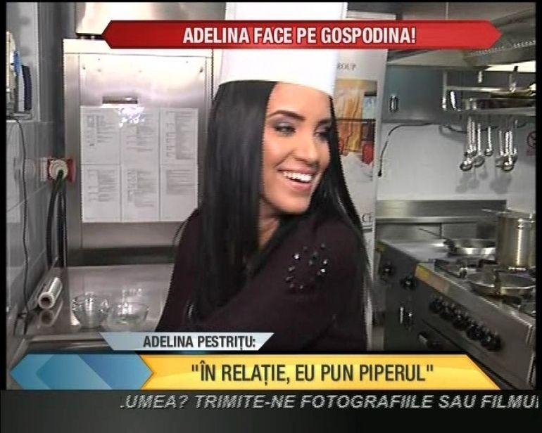 Adelina Pestritu a dat bir cu fugitii din bucatarie! Ce a speriat-o asa tare pe bruneta VIDEO