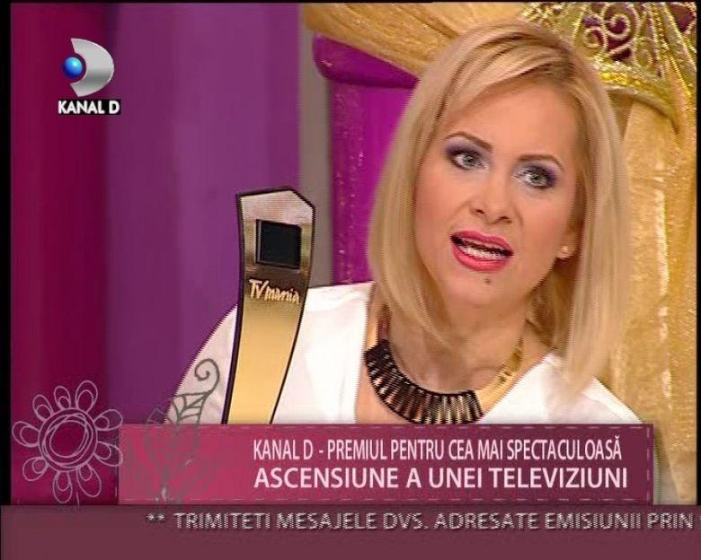 Kanal D, premiul pentru cea mai spectaculoasa ascensiune a unei televiziuni VIDEO