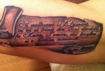 EXCLUSIV!!! Vezi ce tatuaj si-a facut Dica, sa-si demonstreze iubirea fata de sotie si copii!