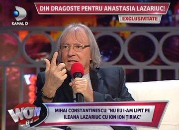 """Mihai Constantinescu: """"Nu eu i-am cuplat pe Ileana Lazariuc si pe Ion Ion Tiriac! Este o nebunie sa spui asa ceva!"""""""