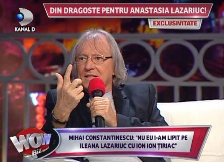 Mihai Constantinescu: Nu eu i-am cuplat pe Ileana Lazariuc si pe Ion Ion Tiriac! Este o nebunie sa spui asa ceva!