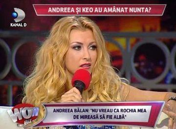 """Andreea Balan, despre casatoria cu Keo: """"Nunta este ceva comun pentru mine, nu vreau sa imbrac acea rochie alba, noi suntem deja o familie si fara acte"""""""