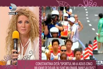 "Constantina Dita, campioana olimpica la maraton: ""In Romania nu am unde sa ma antrenez pentru proba de maraton"" VIDEO"