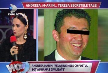 "Andreea Marin a dezvaluit la WOWbiz cum a decurs mariajul sau cu primul sot: ""Ajunsesem la reprosuri de genul ca nu e bine asezata cana pe masa"""