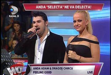 """Anda Adam, duet de senzatie cu finalistul de la """"Vocea Romaniei"""", Dragos Chircu. Asculta melodia cantata de cei doi in platoul emisiunii WOWbiz"""