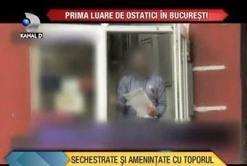 Prima luare de OSTATICI in Bucuresti! Angajatele unui oficiu postal au fost sechestrate si amenintate cu toporul VIDEO