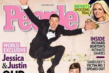 Uite cum arata Justin Timberlake si Jessica Biel in prima poza de la nunta!