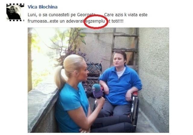 Vica Blochina, fosta amanta a lui Piturca, sta prost cu gramatica! Vezi ce gafa a comis fosta balerina! Ramai mut de uimire!