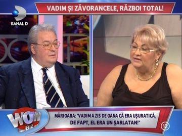 """Corneliu Vadim Tudor, vorbe ca la usa cortului in duelul cu Marioara Zavoranu: """"Este o scroafa care matura pe jos! A uitat cat m-am zbatut pentru ea cand ii cadeau matele pe jos!"""""""