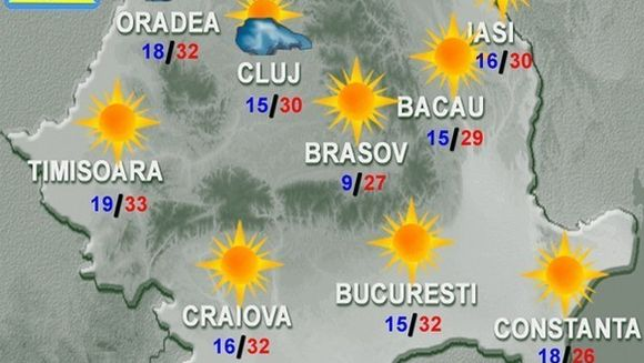 PROGNOZA METEO: Vreme deosebit de calda pentru aceasta perioada a anului!