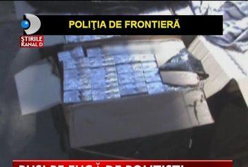 IMPUSCATURI LA FRONTIERA. Mai multi contrabandisti au fost urmariti de politie VIDEO
