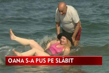 Oana si Viorel Lis, show total in mare! VIDEO