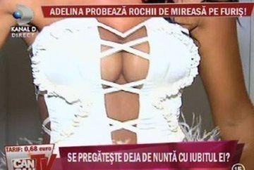 Adelina Pestritu, sexy mireasa! Uite ce sani are intr-o superba rochie. Se marita vedeta? GALERIE FOTO
