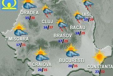 PROGNOZA METEO: Temperaturile vor fi mai scazute fata de zilele precedente! Afla cum va fi VREMEA in weekend