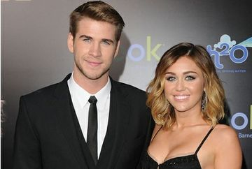 Miley Cyrus si actorul Liam Hemsworth s-au logodit