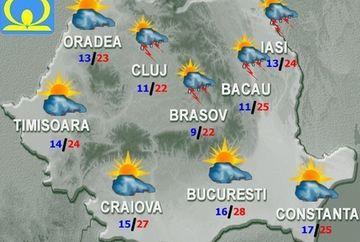 PROGNOZA METEO: Vremea se va incalzi usor in weekend! Vezi daca renuntam complet la umbrele