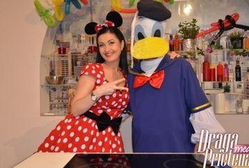 Gabriela Cristea Toader, in rolul lui Minnie Mouse, de Ziua Copilului
