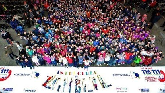 Record mondial - Romania detine fotografia cu cele mai multe zambete de copii