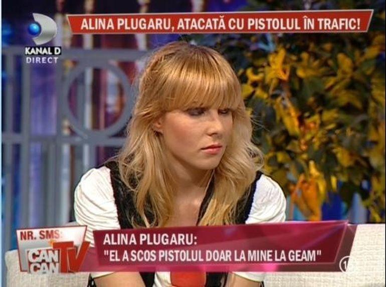 Alina Plugaru, amenintata cu pistolul in trafic