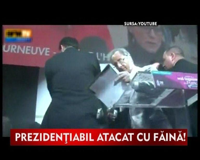 Favorit ca presedinte al Frantei, Francois Hollande s-a trezit cu o punga de faina in fata. Uite prin ce moment penibil a trecut! VIDEOl