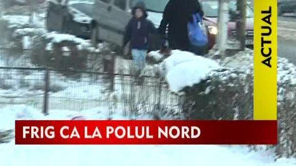 35 de judete si Capitala raman sub cod galben de frig. Vineri se intorc ninsorile!VIDEO