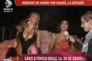 Sanziana Buruiana si Andreea Tonciu, goale la -20 grade Celsius