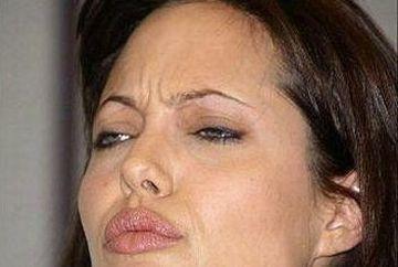 Angelina Jolie surprinsa in ipostaze amuzante. Uite fetele nevazute ale actritei! GALERIE FOTO