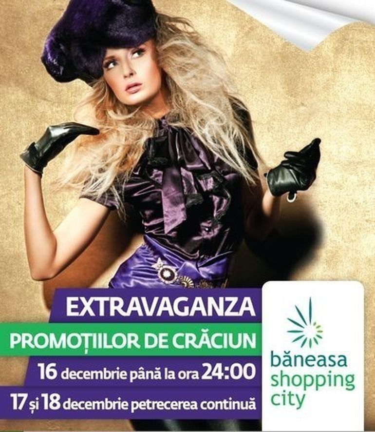 Baneasa Shopping City te invita la Extravaganza promotiilor de Craciun
