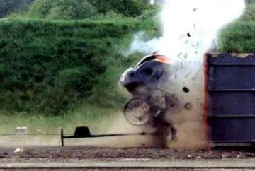 Test drive incredibil! Uite ce dezastru poate lasa in urma viteza excesiva. VIDEO&FOTO