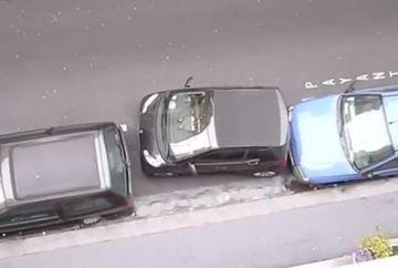 Gandeste-te de doua ori inainte de a parca masina. Uite ce a facut un sofer! VIDEO