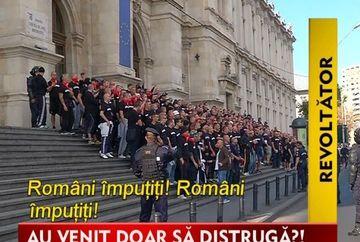 Mii de suporteri unguri au facut prapad in Capitala! IMAGINI cutremuratoare din Centrul Vechi