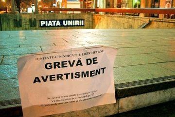 VESTI PROASTE pentru bucuresteni: GREVA GENERALA la metrou si RATB, in 30 septembrie. Transportul in comun nu va functiona pana la ora 16.00