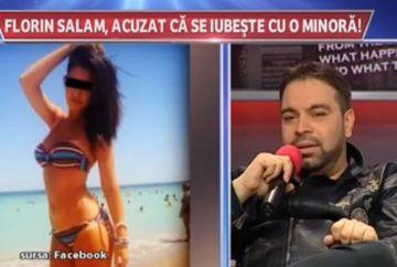 "Reactia lui Florin Salam cand a aflat ca fata cu care s-a sarutat e minora: ""Eu stiam ca are 18 ani"""