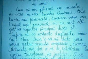 Este de departe cea mai tare compunere scrisa de un scolar! Zeci de mii de persoane au distrubuit-o pe Facebook!
