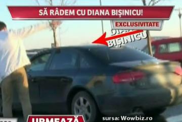 Diana Bisinicu s-a chinuit sa scoata masina din parcare! Vezi un video care face senzatie