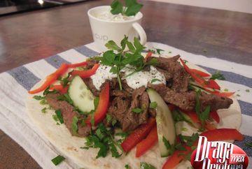 Kebab de vita cu sos de iaurt si menta