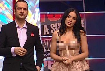 """Adelina Pestritu a innebunit barbatii cu decolteul pe care l-a afisat la """"WOWbiz"""""""