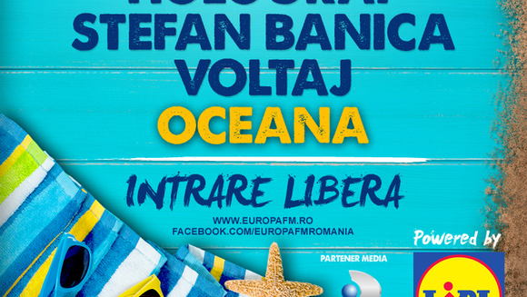 "3 Sud Est, Smiley, Holograf, Stefan Banica, Voltaj si Oceana vin la super-concertul Europa FM ""Live pe Plaja"", din 2 august!"