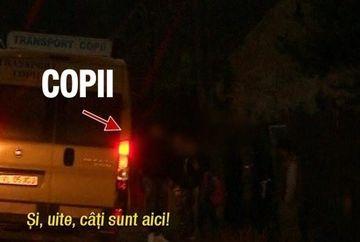 Imagini strigatoare la cer, filmate pe Valea Oltului! Cati copii sunt transportati intr-un microbuz
