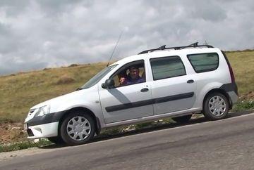 A oprit masina in panta, a scos-o din viteza si Loganul a inceput sa urce singur, cu spatele. Explicatia unui fenomen care a uimit lumea