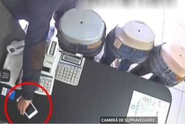 Cat i-a trebuit unui hot din Lugoj sa fure un telefon de pe o tejghea din magazin?!