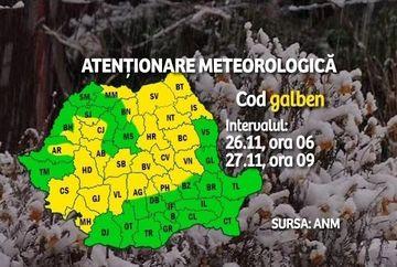 Iarna a poposit deja in mai multe zone din tara! Recomandarile autoritatilor pentru zilele urmatoare