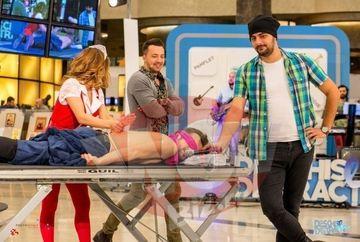"""Un judocan cu greutate il calca in picioare pe Catalin Josan! Se intampla sambata, in emisiunea """"Deschis la distractie"""" , de la 11.30, la Kanal D"""