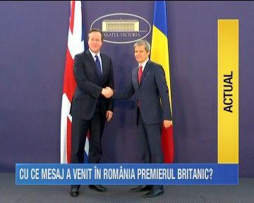 David Cameron, la palatul Victoria! Uite ce mesaj i-a transmis omologul sau, Dacian Ciolos