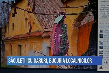 24 de saculeti misteriori plini cu daruri au inceput sa aduca fericire pe chipurile localnicilor din comuna Cristian!