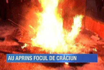 O sperietura zdravana au tras sarbii din Timisoara, care au aprins traditionalul foc de Craciun pe rit vechi